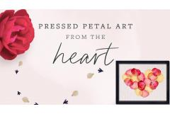 DIY Pressed Petal Art from the Heart